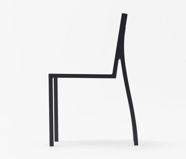 Cadeira com design minimalista