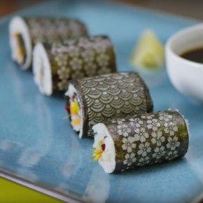 Laser cut sushi gives seaweed a stylish upgrade.