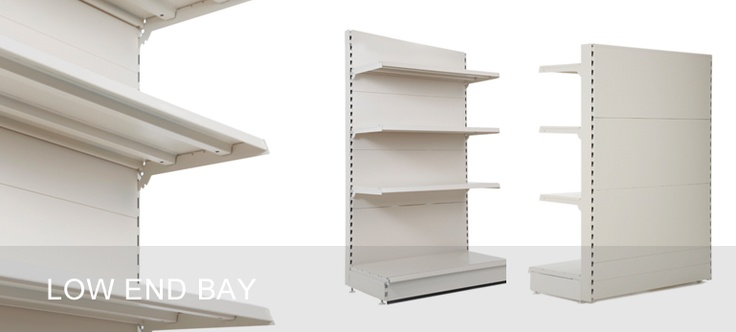 Low End Bays - for finishing a run of shop shelving neatly