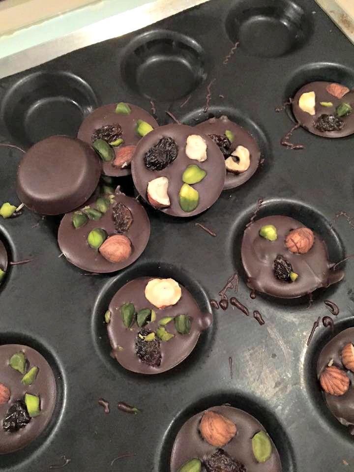 Petits mendiants au chocolat