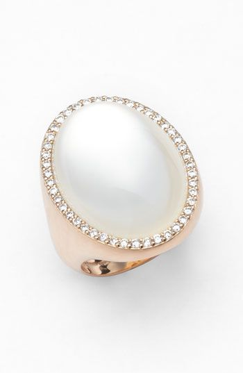 Speechless... Roberto Coin Diamond & Mother of Pearl Doublet Ring available at #Nordstrom