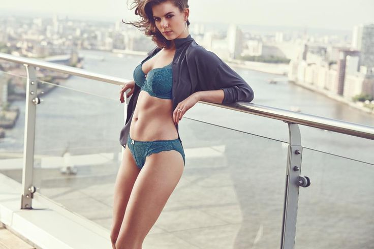 Just Peachy Lace High Apex Bra Set in Teal/Gold #SecretsOfTheCity #AW14Lingerie #figleaves