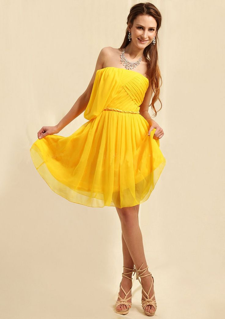 17 besten Yellow Dresses 2014 Bilder auf Pinterest   Abendkleider ...