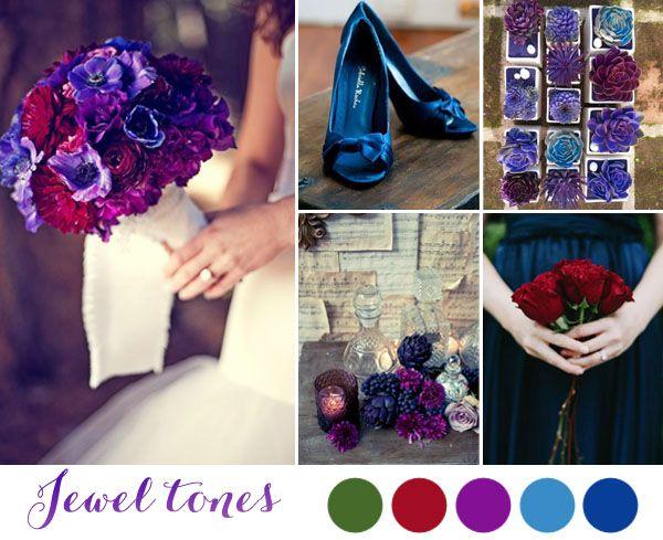 matrimonio viola, rosso, blu, verde - inspiration board matrimonio invernale