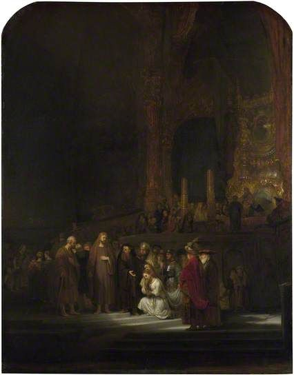 The Woman taken in Adultery by Rembrandt van Rijn The National Gallery, London