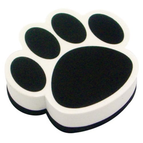 Magnetic Whiteboard Erasers, Pawprint:  Available in Black, Blue, Purple, Green, Red, Orange, Yellow, & Maroon