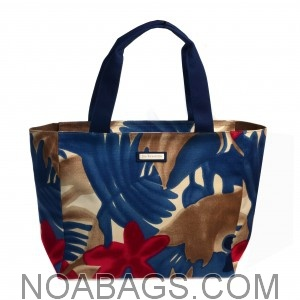 Jim Thompson Luxury Canvas Summer Bag Floral Blue & Red