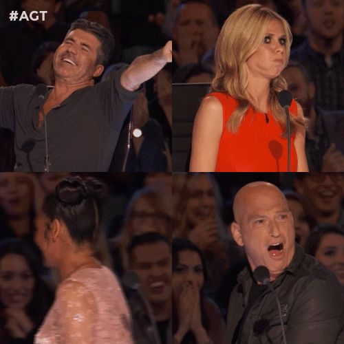 New trending GIF on Giphy. reaction fox scared agt heidi klum simon cowell americas got talent mel b howie mandel judges. Follow Me CooliPhone6Case on Twitter Facebook Google Instagram LinkedIn Blogger Tumblr Youtube
