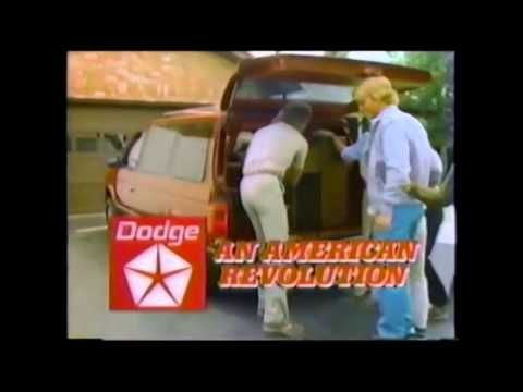 Dodge Caravan Commercial Original 1984 Dodge Caravan Commercial From The 80's.  The Dodge Caravan is a family minivan manufactured by Chrysler Group LLC and sold under its Dodge brand. The Caravan was introduced for the 1984 model year along with its nameplate variant, the Plymouth Voyager (1984-2001). In 1987, the Dodge Grand Caravan long-wheelbase