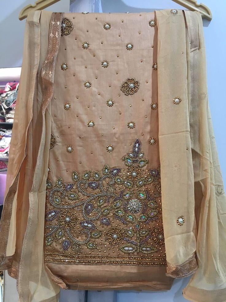 Punjabi Patiala pakistani Designer Indian SALWAR KAMEEZ wedding wear stone suit  #Handmade #SalwarKameez