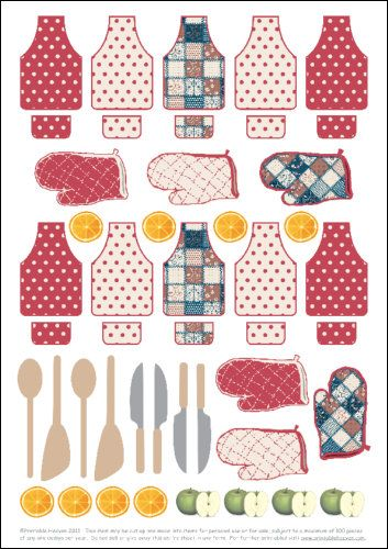 Free Printable Embellishments Sheet of Baking Goodness. Completely free to print or download, No Sign up Required.