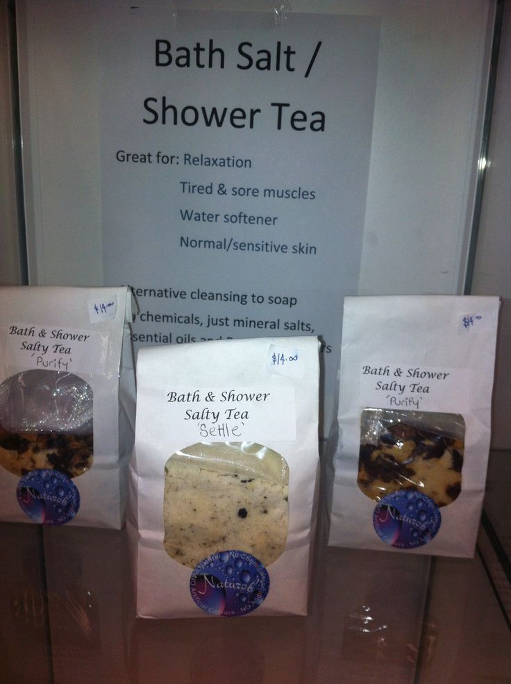 Bath & Shower tea  with essential oils and botanical flowers