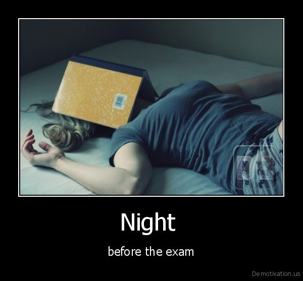 Heather night exam finals equals fucking 2