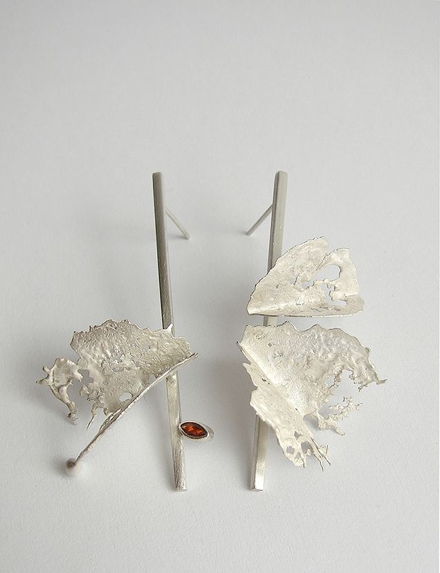 Andra Lupu - earrings - 925 silver - crushed collection