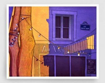 Le Saint Paul  París ilustración arte ilustración impresión