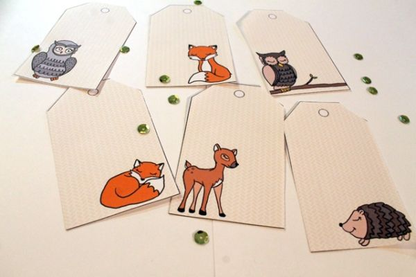 Printable Forest Friends Christmas Gift Tags - free and adorable!!