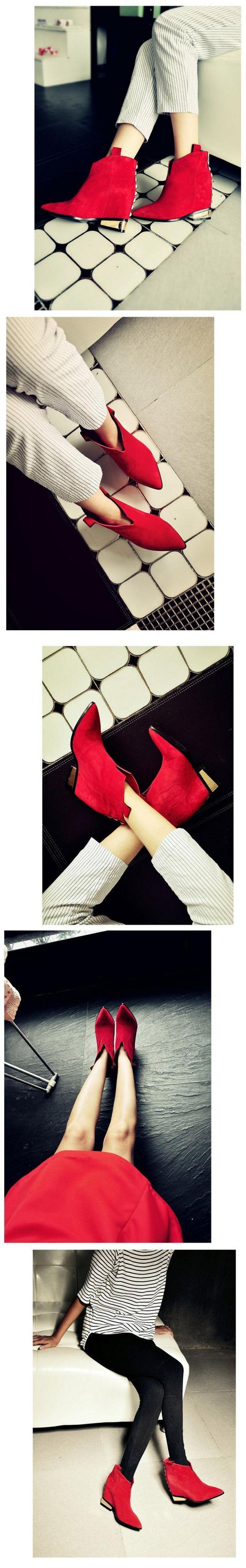 Гетры женщины де спорт bottines женщины де режим 2016 женские сапоги туфли botas красные нижние каблук ботинки для женщин свободного покроя клинья каблуки женщины обувь купить на AliExpress