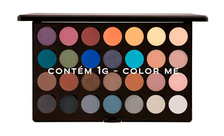 A Contém 1g acaba de lançar o Color Me, onde podemos montar palettes de sombras personalizadas, com as cores que mais gostamos. Já estou criando meu kit.