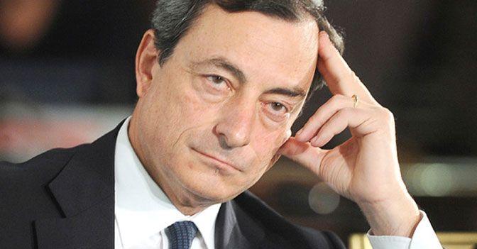 Draghi e la BCE a Napoli: ma la borsa non apprezza e crolla