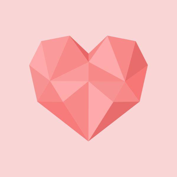 polygon heart - Google Search