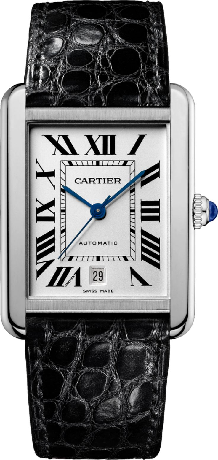 One of my first loves: The Cartier Tank Solo watch in XL -- For when I land that big gig!