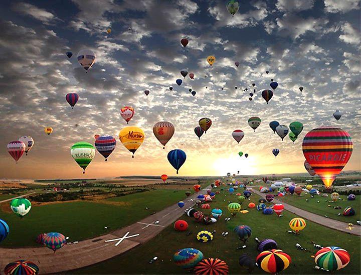 Lorraine Mondial Air Balloons Festival in Chambley, France.