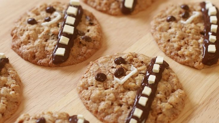 Turn regular chocolate chip cookies into Wookie Cookies with this easy video tutorial from one of our favorite YouTube cooking shows | Nerdy Nummies
