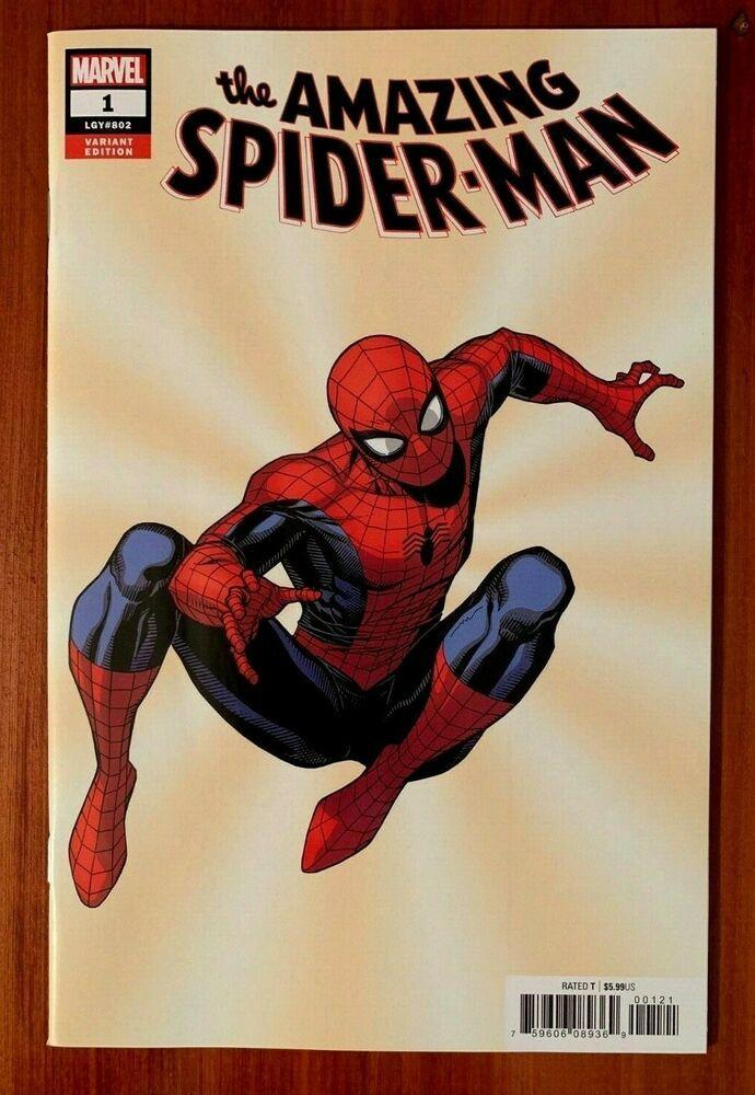 AMAZING SPIDER-MAN #1 2ND PRINT VARIANT NM MARVEL FRESH START 2018