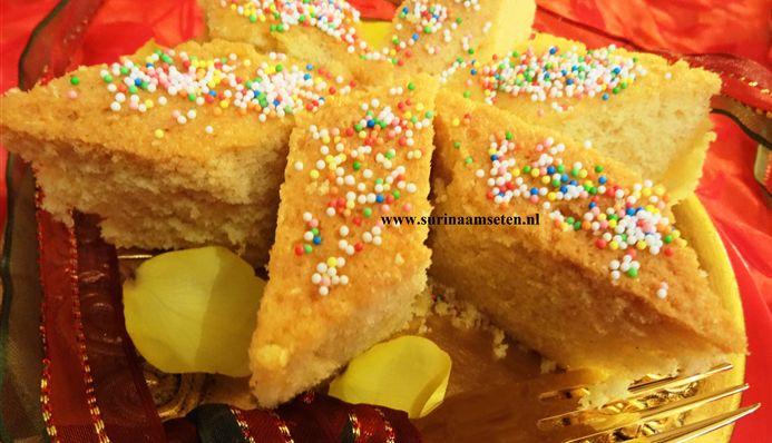 Surinaams eten – Eksie (boterzachte Surinaamse eier cake)