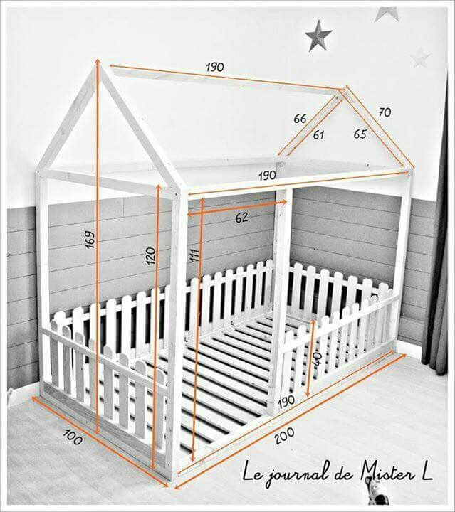 M s de 25 ideas incre bles sobre cama montessori en for Cama de casita
