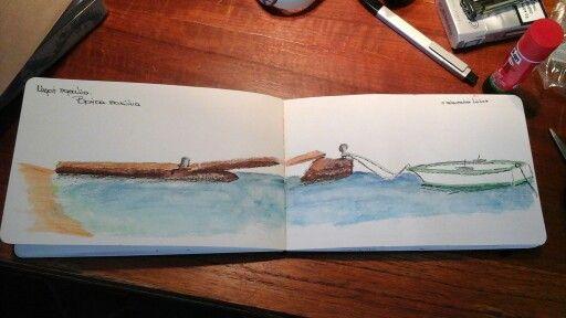 my travel journal. Marathi island, Greece. Summer 2015