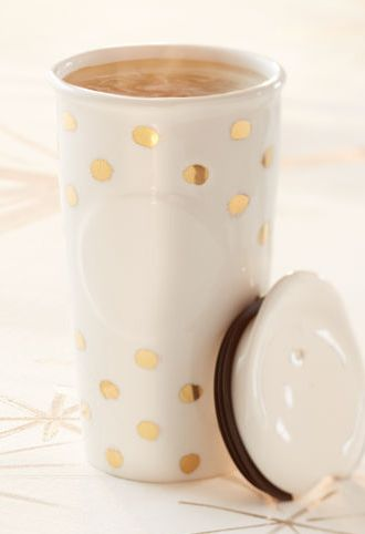 Gold dot mug by starbucks! Obsessed with all Starbucks mugs and tumblers