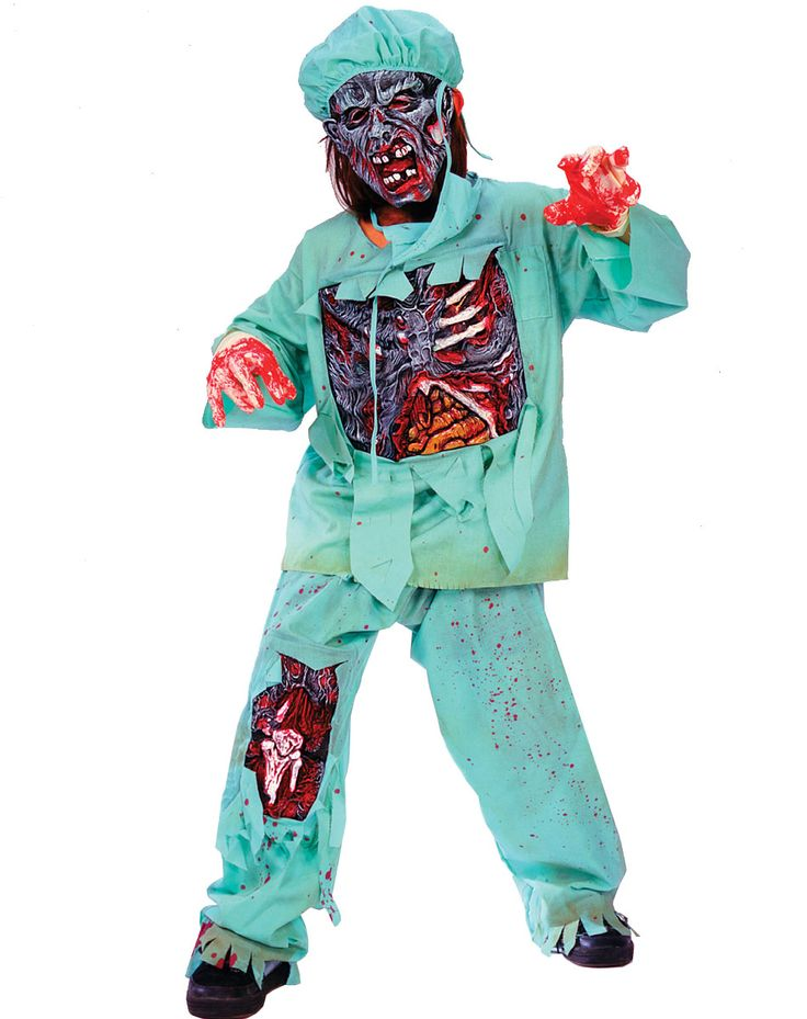create a killer backstory when you suit up in this zombie doctor child costume perhaps halloween
