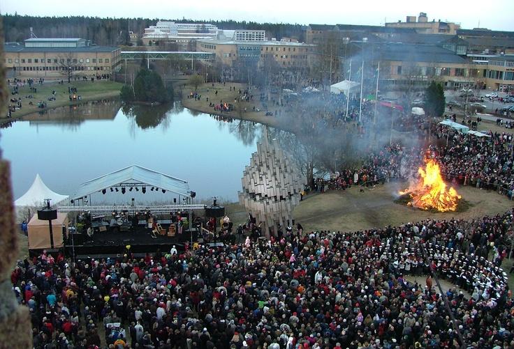 Walpurgis in Umeå, Sweden