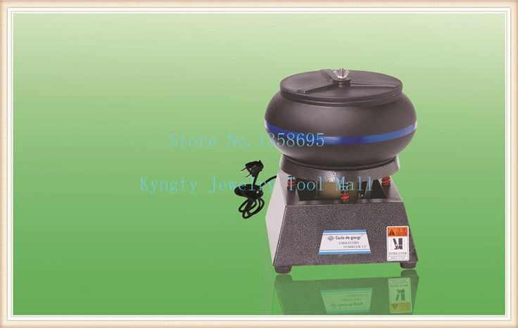 "Jewelry Tools 220V 6.2kg Capacity 10"" Barrel Tumbler Machine Jewelry Vibratory Tumbler"