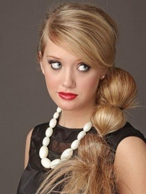 melhores ideias de side ponytail