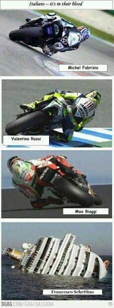 Gli italiani ce l'hanno nel sangue, é una loro passione...