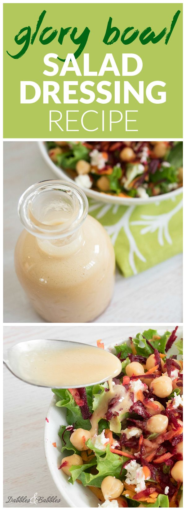 Glory Bowl Salad Dressing Recipe - my new favorite salad dressing recipe from the Whitewater Cooks series! This amazing dressing is absolutely delicious and so versatile it can also be used on chicken, rice, noodles and more. Click to go to recipe.