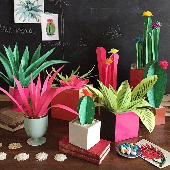 These DIY paper plants are sure to brighten any space, and don't even require a green thumb!