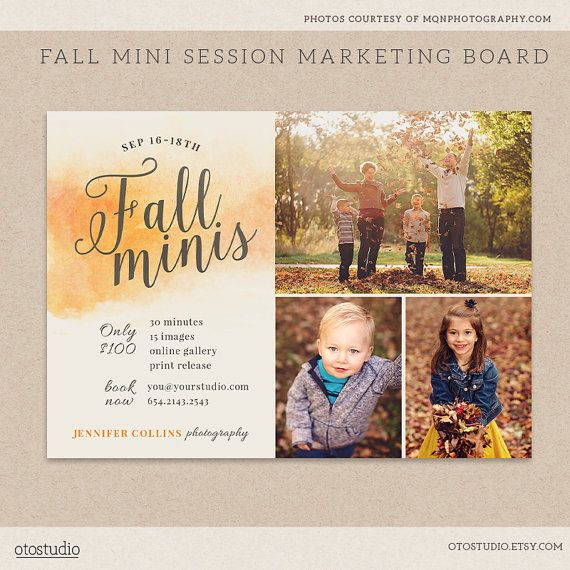 Fall Mini Session Template Photography Marketing by OtoStudio