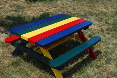 Picnic Tables/Benches on Pinterest | Picnic Table Plans, Kids Picnic ...