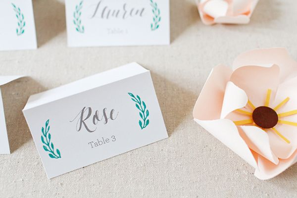 FREE wedding printable: Escort cards by Bright Room Studio and Oh So Beautiful Paper | From #BridalGuide #WeddingPrintable