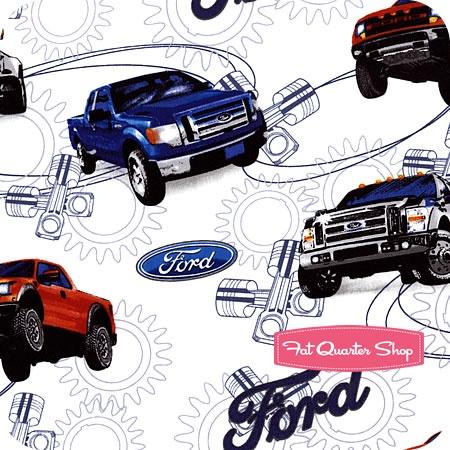 ford f150 trucks on white yardage sku 1101 01 ford cars by sykel fabrics