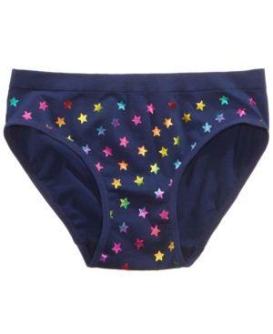 Maidenform Star-Print Hipster Underwear, Little Girls (2-6X) & Big Girls (7-16) - Blue XL