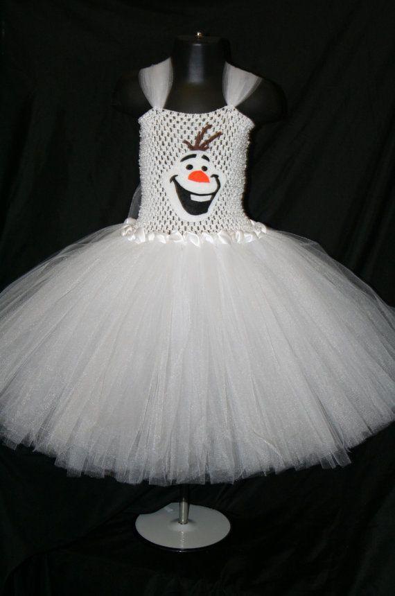 Olaf Inspired Tutu Dress, Olaf Tutu Dress, Frozen Tutu Dress, Olaf, Snowman Tutu Dress