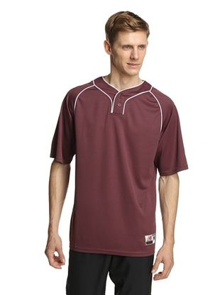 63% OFF New Balance Men's Team Two Button Jersey (Team Maroon)