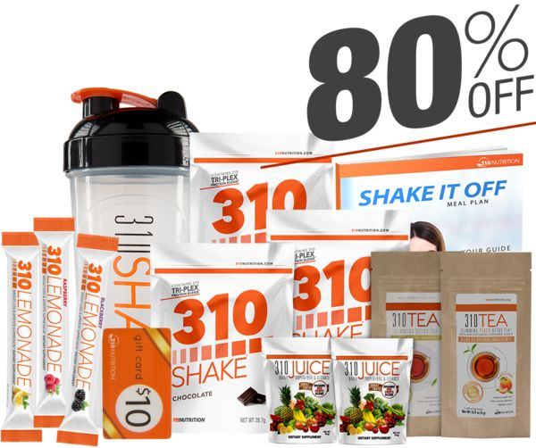 *One per household, No Auto-Ship, No Commitment  310 Shake is a healthy meal replacement formula made with some of the finest natural ingredients in the world. 15g Tri-Plex™ Superior Plant-Based Proteins | Sugar-Free | Vitamin & Mineral Blend | Greens Blend | 1 Bil CFU Probiotics 15g of pure, highest-quality Tri-Plex™ plant-based proteins Natural satiety ingredients optimized for weight-loss 5g of hunger-quenching fiber Phenomenal taste Sugar, soy protein, gluten and dair...
