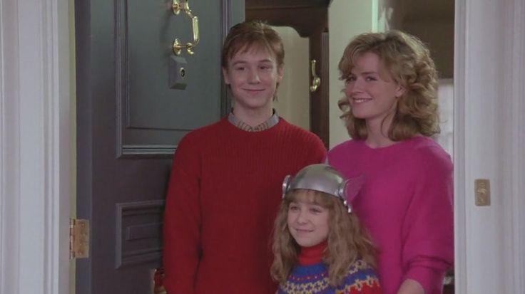 Elisabeth Shue, Keith Coogan, and Maia Brewton in Adventures In Babysitting (1987)