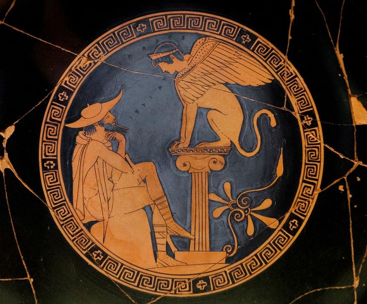OEDIPUS AND THE SPHYNX Greek pottery, Greek art, Ancient