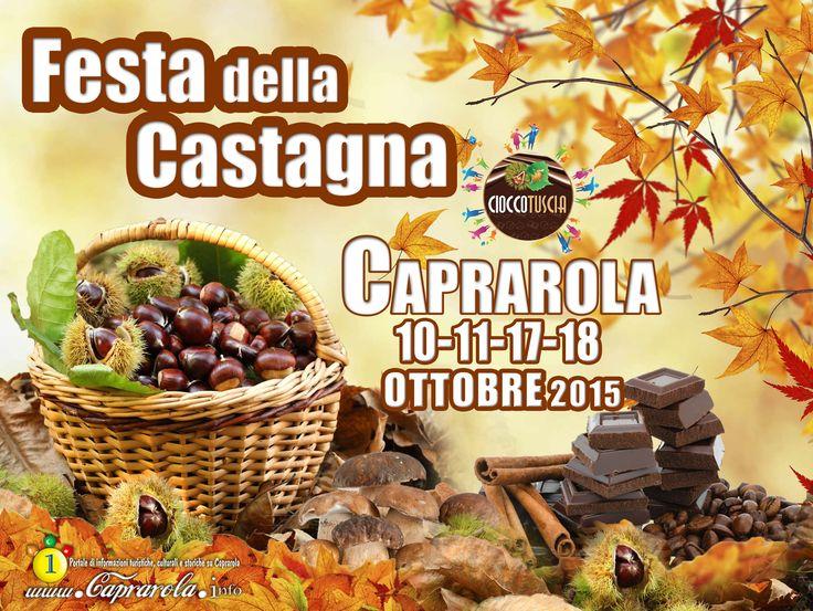 CioccoTuscia6 • Tutti i giorni della festa: Apertura stand gastronomici - Degustazioni di caldarroste e piatti tipici con castagne - Pizze fritte